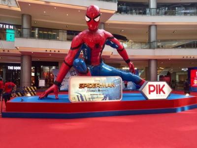 Spider-Man Homecoming di Tiga Mal Agung Sedayu Retail