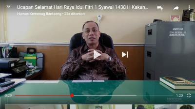 Jelang Idul Fitri 1438 H, Kakan Kemenag Bantaeng Beri Ucapan Selamat