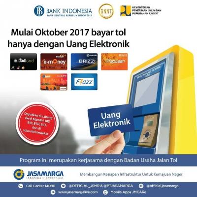 Mulai Oktober, Bayar Tol Wajib Pakai Uang Elektronik