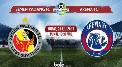 Semen Padang FC Pecundangi Arema FC