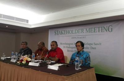 Stakeholder Meeting On The Development of Palm Oil Industry in Papua: Government and Society Support Palm Oil Industry