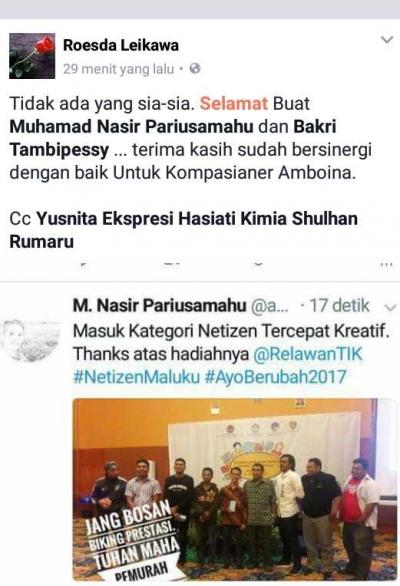 Obrolan Netizen Maluku soal Revolusi Mental