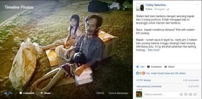 Viral, Foto Bapak dan Kedua Anaknya yang Terlantar