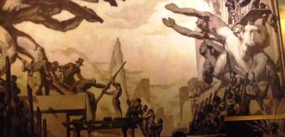Benturan Paham Kiri dan Kanan dalam Lukisan di Rockefeller Plaza, New York