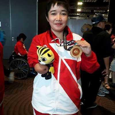 Aminah Penyumbang Medali Emas dan Perak untuk Indonesia di Ajang Asean Para Games 2017