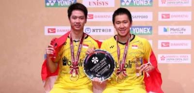 Juara Japan Open, Kevin Sanjaya dan Marcus Gideon Kembali ke Puncak Ranking Dunia