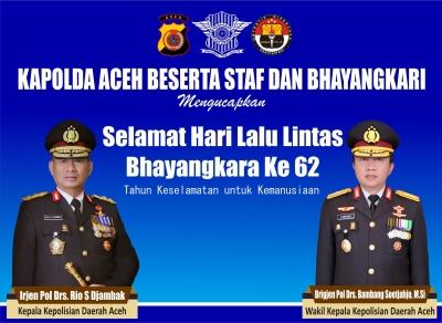 Peringatan Puncak HUT Lantas Bhayangkara ke-62 di Mako Polda Aceh