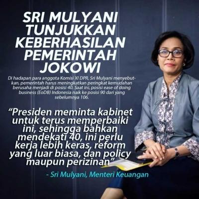 Sri Mulyani Sampaikan Beberapa Keberhasilan Pemerintahan Jokowi di Sektor Ekonomi