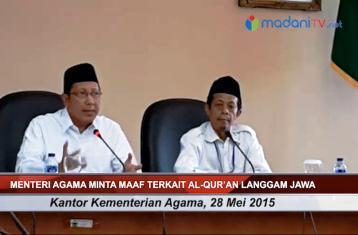 Inilah Langgam 'Jahat' Menag Lukman Saefuddin