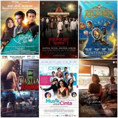 Daftar Film Indonesia Siap Tayang Bulan Januari 2016