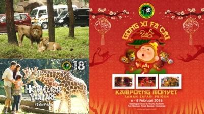 Kampoeng Monyet + Parade Satwa, Kreasi Safari Prigen Sambut Gong Xi Fa Cai