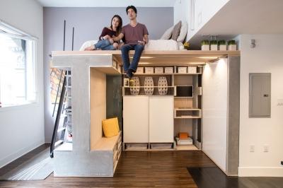 Domino Loft, Memaksimalkan Ruangan Apartemen Studio