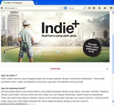 Anehnya Paket Internet Indie+ dari Tri