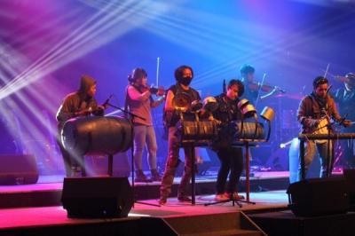 Musik Perkusi Barang Bekas Raksasa Percussion di Bogor