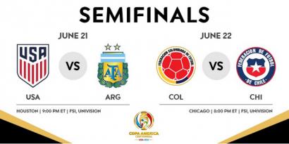 Data & Fakta Empat Tim Kontestan Semifinal Copa America 2016