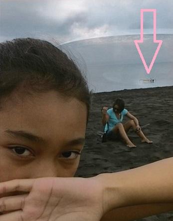 Ada Apa di Balik Foto UFO Pantai Lepang Klungkung Bali?