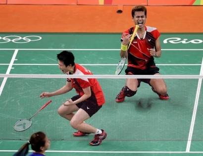 Akhirnya Tontowi dan Lilyana Persembahkan Kado Medali Emas bagi Indonesia, Merdeka!