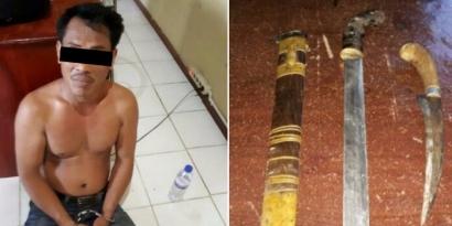 Bawa Senjata Tajam, Pemuda di Tugumulyo Diamankan Petugas