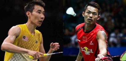 Duel Pemain Legendaris Lee Chong Wei vs Lin Dan di Semifinal Kejuaraan Asia 2017