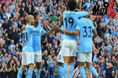 Manchester City Pesta Gol di Etihad Stadium