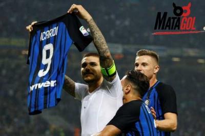3 Gol Mauro Icardi Sukses Bungkam AC Milan