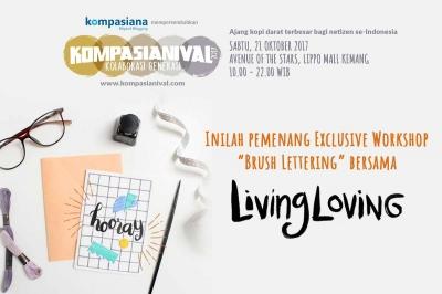 Andakah Peserta Terpilih Workshop Bersama Living Loving di Kompasianival 2017?