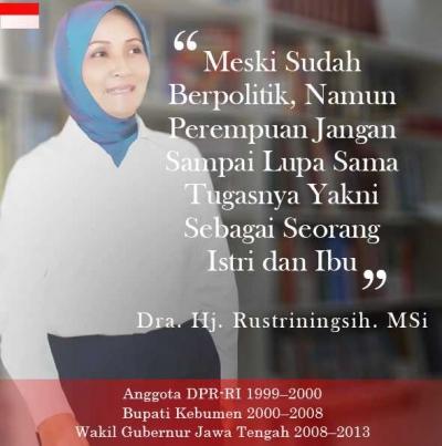 Rustriningsih, Inspirasi Kaum Perempuan Jawa Tengah