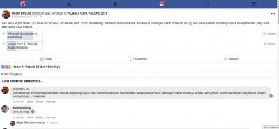 Jajak Pendapat Via Facebook Pilkada Palopo, Siapa Pemenangnya?