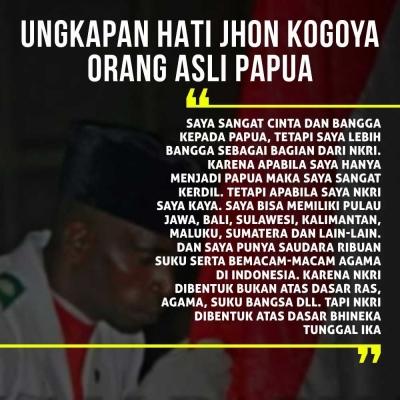 Ini Ungkapan Hati Orang Asli Papua