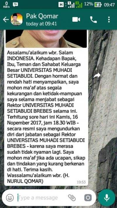 Mahasiswa UMUS Akan Bergerak untuk Mempertahankan Pelawak Komar Jadi Rektornya