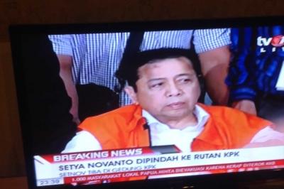 Alasan KPK Pindahkan Setnov ke Rutan KPK Malam Ini
