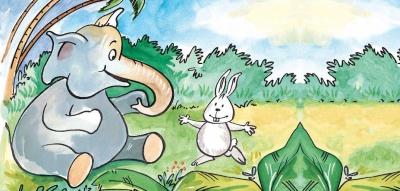 Persahabatan Kelinci dan Gajah
