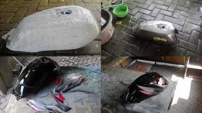 Kerok Cat Lama Tangki Motor (