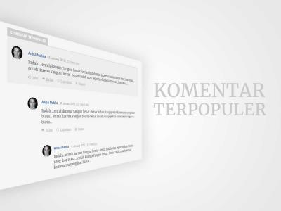 Komentar Terpopuler, Untuk yang Suka Berdiskusi dalam Artikel