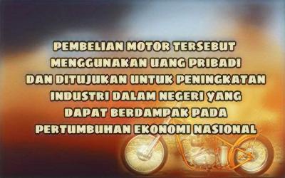 Nyinyir Para Pembenci Soal Motor Baru Presiden Jokowi