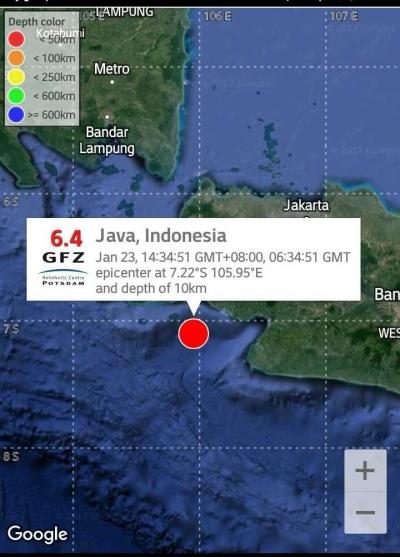 Gempa di Ujung Kulon, Getaran Terasa sampai Jakarta dan Bandung