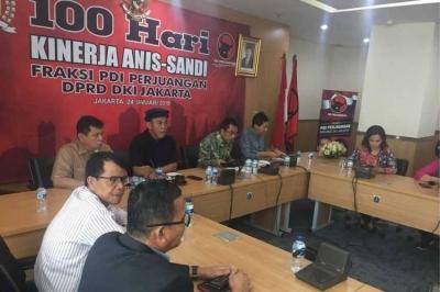 11 Catatan Fraksi PDI-P untuk 100 Hari Pemerintahan Anies-Sandiaga