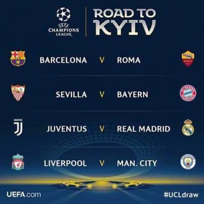 Warna-warni Babak Perempatfinal Liga Champions Eropa