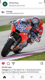 Kejuaraan Dunia Moto GP 2018 Dimulai dengan Balapan Klasik di Bawah Lampu Losail Qatar
