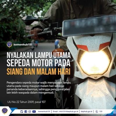Menyalakan Lampu Kendaraan Harus Ditaati, Bukan Dilanggar