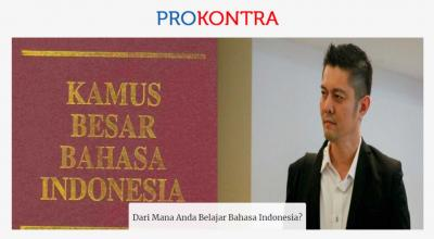 Belajar Bahasa Indonesia dari Sekolah