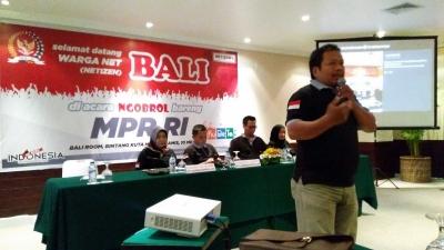 MPR Plesiran ke Bali, Ngobrol Bareng Netizen tentang 4 Pilar MPR RI