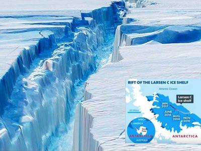 Kecanggihan Teknologi Menyingkap Pecahan Es Antartika