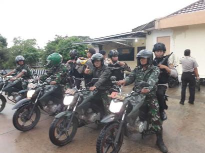 Ciptakan Pilkada Damai di Banyuasin,  TNI-Polri Gelar Patroli Terpadu