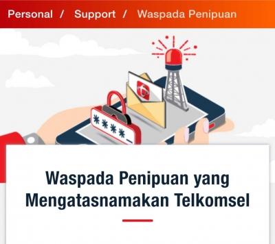 Waspada Penipuan oleh Operator Telkomsel Gadungan