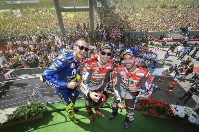Lorenzo Juara MotoGP Mugello, Rossi Gembira di Podium Tiga