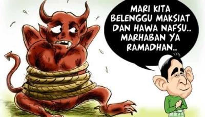 Setan Terbelenggu, Tak Diyakini Para Bedebah