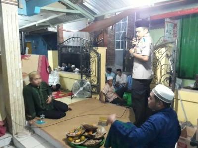 Tarling bersama Jamaah Al Munawaroh, Kapolsek Cengkareng Beri Himbauan Kamtibmas