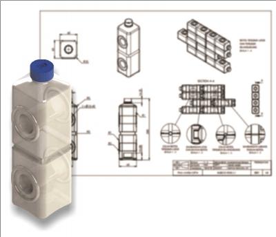 Desain Botol Plastik Bak Lego yang Mudah Digunakan Kembali