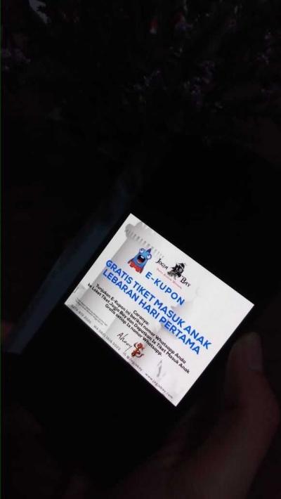 Gratis Tiket Anak, e-Kupon